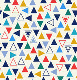 Geometric seamless pattern with triangles Royalty Free Stock Image