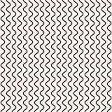 Geometric seamless pattern, vertical thin wavy lines, curves, waves. Stock Images