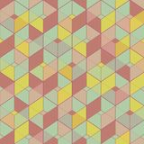Geometric seamless pattern in vintage colors Royalty Free Stock Photography