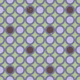 Geometric seamless pattern with violet circles  Royalty Free Stock Images