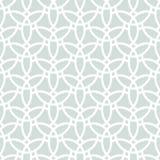 Geometric Seamless Pattern. Seamless white ornament with light blue background. Modern stylish geometric pattern with repeating elements Royalty Free Stock Image