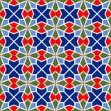 Geometric seamless  pattern  white Turkish, Moroccan, Portuguese  tiles, Azulejo, Arabic ornament. Islamic art. Stock Image