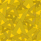 Geometric seamless pattern. Yellow seamless background with geometric texture royalty free illustration