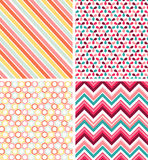 Geometric seamless patterns Royalty Free Stock Image