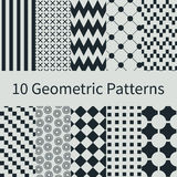 Geometric seamless patterns Royalty Free Stock Photo
