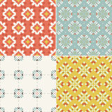 Geometric seamless patterns. Elegant collection of four geometric seamless patterns. Ornamental background for cards, invitations, web pages. Retro texture or Stock Photography
