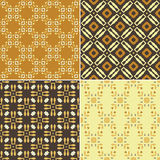 Geometric seamless patterns. Elegant collection of four geometric seamless patterns. Ornamental background for cards, invitations, web pages. Retro texture or Royalty Free Stock Photography