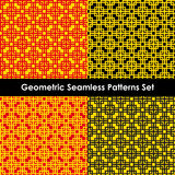Geometric seamless patterns. EPS 10. Geometric seamless patterns set, backgrounds. EPS 10 royalty free illustration