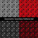 Geometric seamless patterns. EPS 8 Stock Photo