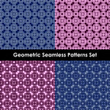 Geometric seamless patterns. EPS 10. Geometric seamless patterns set, backgrounds. EPS 10 stock illustration