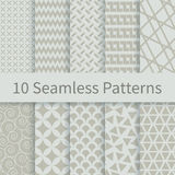 Geometric seamless patterns. 10 Geometric Fashion different vector seamless patterns. Swatches of seamless patterns included in the file. Set of geometric Stock Images