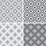 Geometric seamless patterns Royalty Free Stock Images