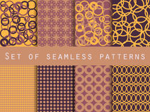 Geometric seamless patterns. Pattern with rings. The pattern for wallpaper, tiles, fabrics and designs. Royalty Free Stock Image