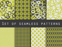Geometric seamless patterns. Pattern with rings. The pattern for wallpaper, tiles, fabrics and designs. Royalty Free Stock Photo