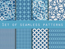 Geometric seamless patterns. Pattern with rings.  Vector illustration. Stock Photo