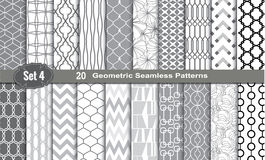 Geometric Seamless Patterns. Pattern swatches included for illustrator user, pattern swatches included in file, for your convenient use Royalty Free Stock Images