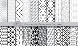 Geometric Seamless Patterns., pattern swatches included for illustrator user, pattern swatches included in file. For your convenient use Royalty Free Stock Image
