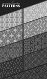 Geometric seamless patterns Royalty Free Stock Photos