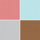 Geometric seamless patterns - vector backgrounds Stock Photos