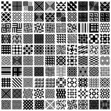 100 geometric seamless patterns set. Royalty Free Stock Images