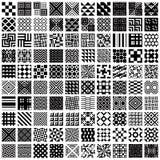 100 geometric seamless patterns set. Royalty Free Stock Images