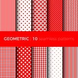 Geometric seamless patterns Stock Photos