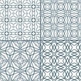 Geometric seamless patterns Stock Photo