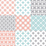 Geometric seamless patterns Stock Photo