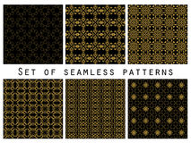 Geometric seamless patterns set.  Vector. Royalty Free Stock Images