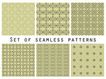 Geometric seamless patterns set. Vector Royalty Free Stock Photography