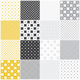 Geometric seamless patterns: squares Stock Photo