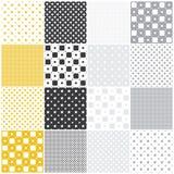 Geometric seamless patterns: squares Stock Photo
