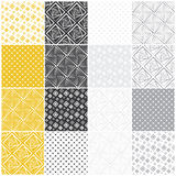 Geometric seamless patterns: squares Stock Image