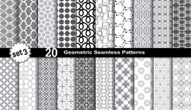 Geometric Seamless Patterns. Stock Photos
