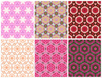 Geometric seamless pink pattern. Set of Geometric seamless pink pattern Royalty Free Stock Image