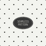 Geometric seamless polka dot pattern with circles Stock Photography