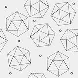 Geometric seamless simple monochrome minimalistic pattern of hexagon or icosahedron  shapes. Geometric seamless simple monochrome minimalistic pattern of hexagon Royalty Free Stock Photography
