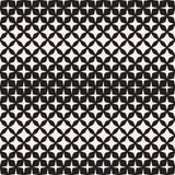 Geometric Seamless Star Shapes Pattern. Halftone Gradient Effect. Stylish Vector Illustration Royalty Free Stock Images