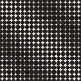 Geometric Seamless Star Shapes Pattern. Halftone Gradient Effect. Stylish Vector Illustration Royalty Free Stock Photos