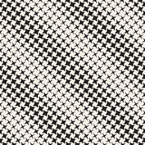 Geometric Seamless Star Shapes Pattern. Halftone Gradient Effect. Stylish Vector Illustration Royalty Free Stock Photography