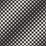 Geometric Seamless Star Shapes Pattern. Halftone Gradient Effect. Stylish Vector Illustration Royalty Free Stock Image