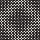 Geometric Seamless Star Shapes Pattern. Halftone Gradient Effect. Stylish Vector Illustration Stock Images