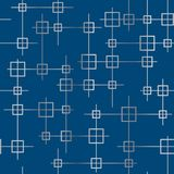 Geometric seamless texture with silver squares and lines Stock Photo