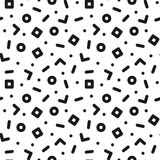 Geometric seamless trendy pattern in retro memphis style, fashion 80s - 90s. Black and white mosaic texture.  royalty free illustration