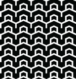 Geometric seamless vector pattern. Geometric seamless vector background with black and white pattern Stock Photography