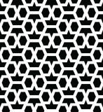 Geometric seamless vector pattern. Geometric seamless vector background with black and white pattern Royalty Free Stock Photography