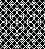 Geometric seamless vector pattern. Geometric seamless vector background with black and white pattern Stock Images