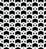 Geometric seamless vector pattern. Geometric seamless vector background with black and white pattern Stock Photo