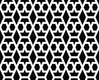 Geometric seamless vector pattern. Geometric seamless vector background with black and white pattern Royalty Free Stock Photo