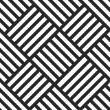 Geometric seamless vector pattern. Black and white striped background. stock illustration